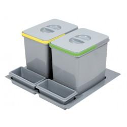 Pojemnik na odpady Practiko 60 podwójny 2x15l