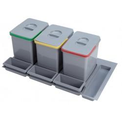 Pojemnik na odpady Practiko 90 potrójny 3x15l