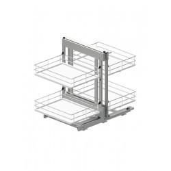Corner Comfort 1000 lewy metal/tworzywo chrom/biały MAXIMA EVO II
