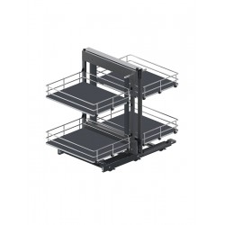 MAXIMA SILVA Corner Comfort 1000 lewy metal/mdf chrom/grafit