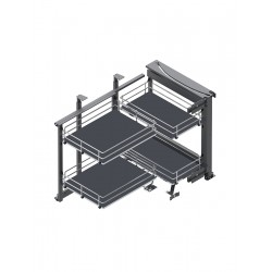 MAXIMA SILVA Corner Front 900 lewy metal/mdf chrom/grafit