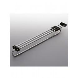 Wieszak wysuwny E50  metal/tworzywo chrom/czarny